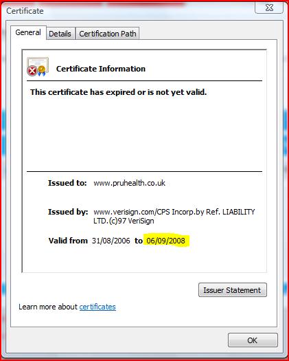 IE7 certificate
