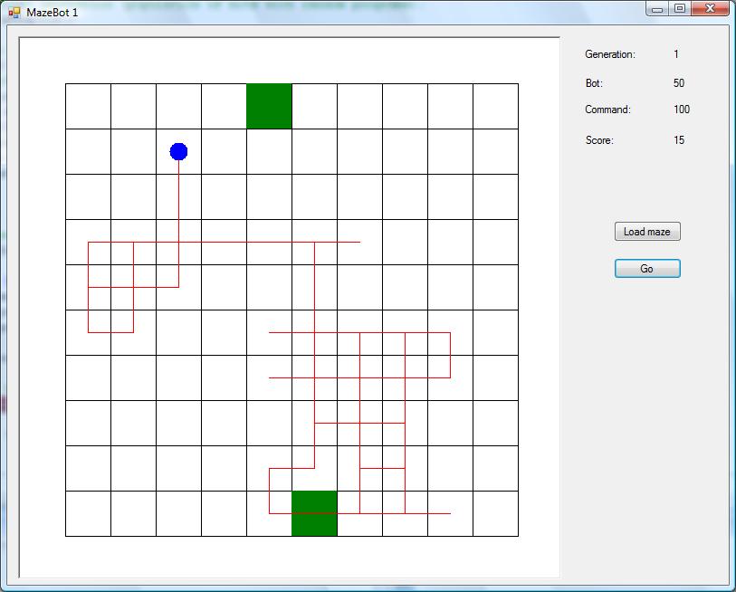 Random robot in blank maze