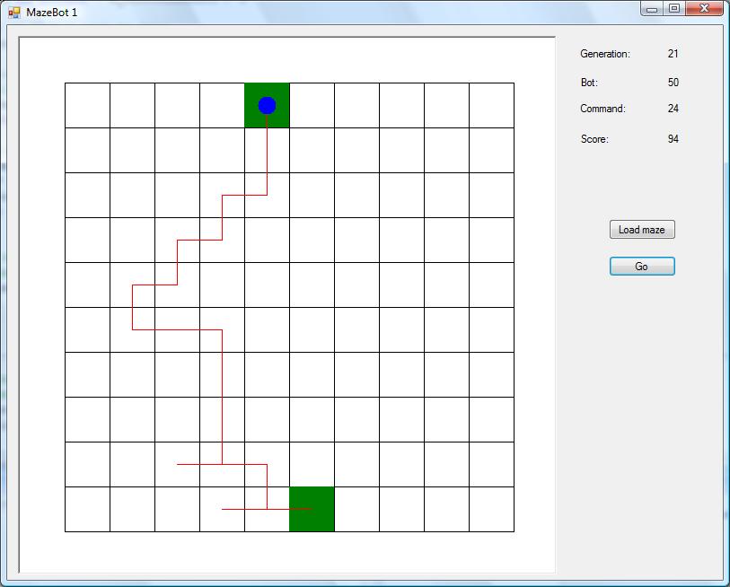 Winning robot in blank maze