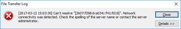 CuteFTP IPv6